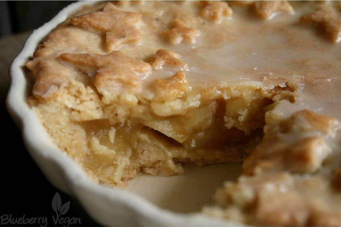Angeschnittener Apple Pie