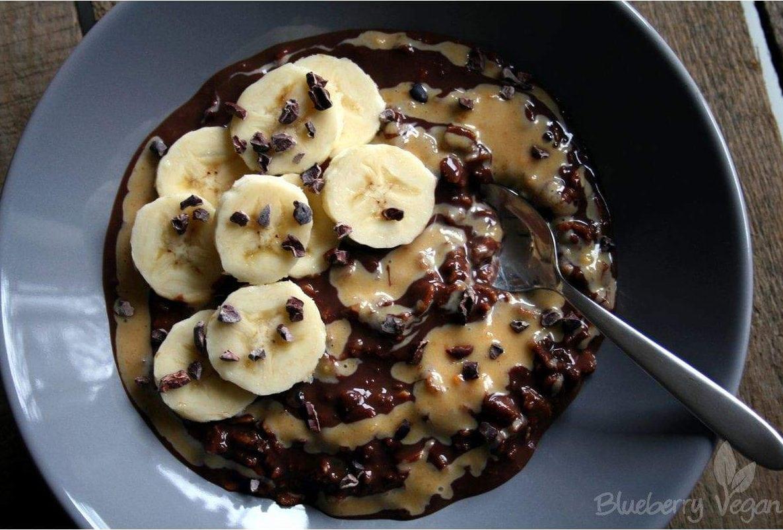 Schoko-Erdnussbutter-Porridge