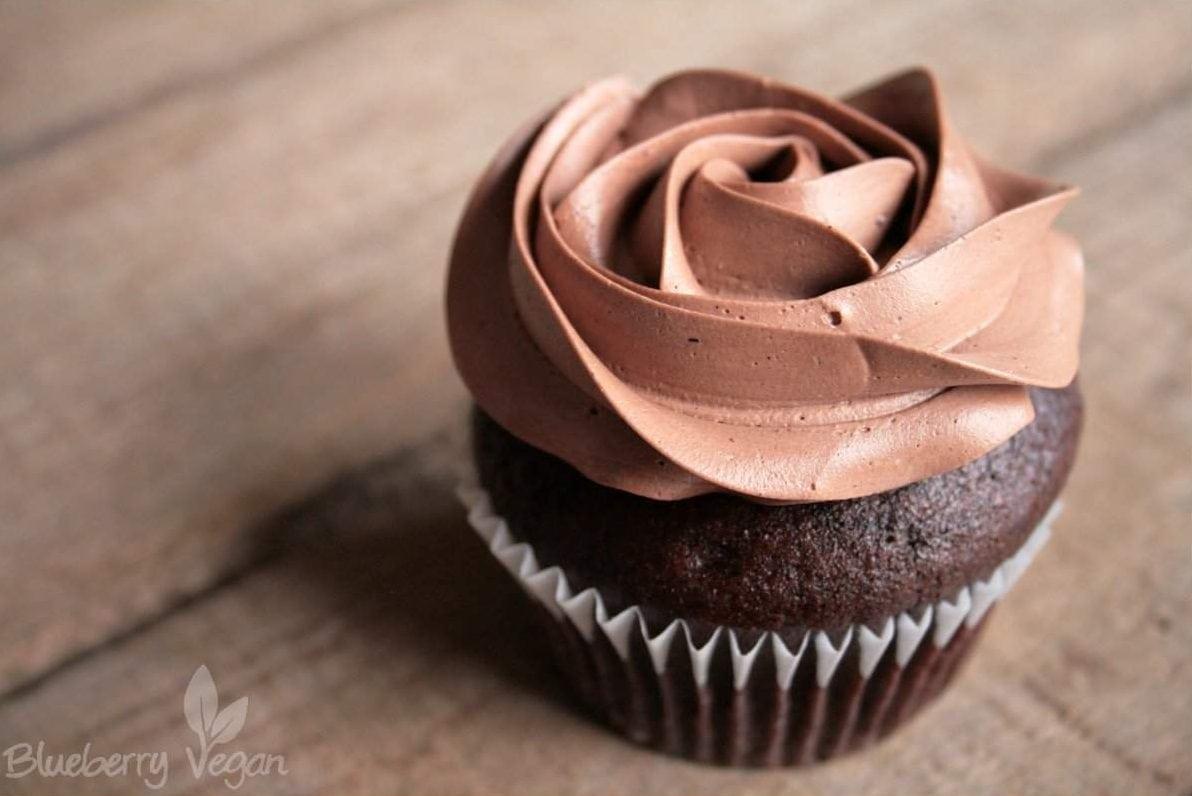 Einfache Schoko Und Vanille Cupcakes Blueberry Vegan