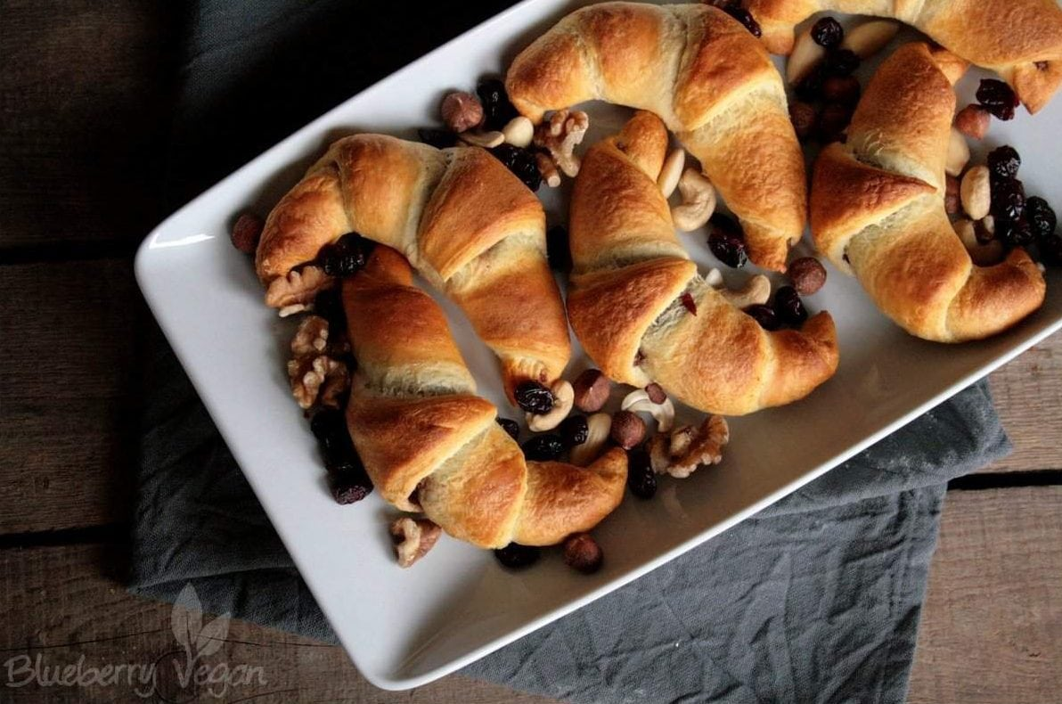 Schoko-Nuss-Croissants -