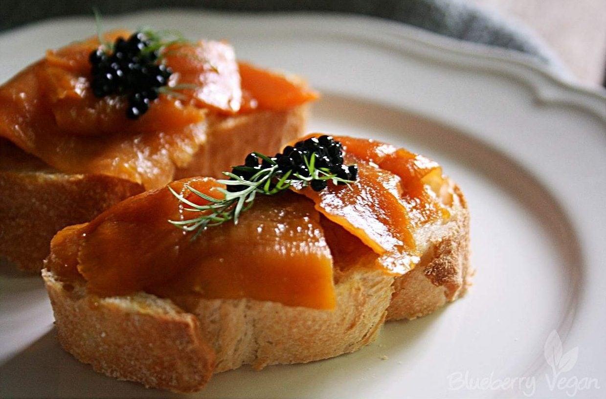 [cml_media_alt id='5408']Karottenlachs mit veganem Caviar.[/cml_media_alt]