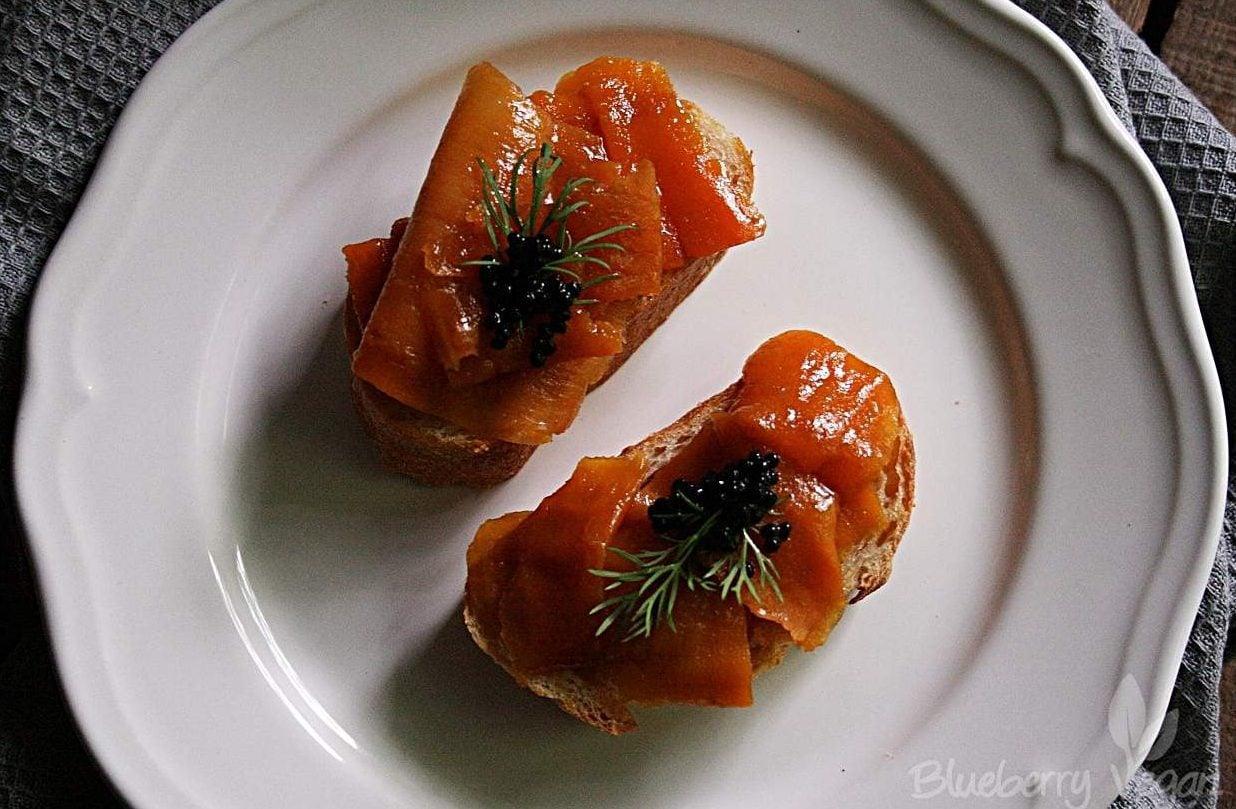 [cml_media_alt id='5411']veganer Karottenlachs mit Caviar.[/cml_media_alt]