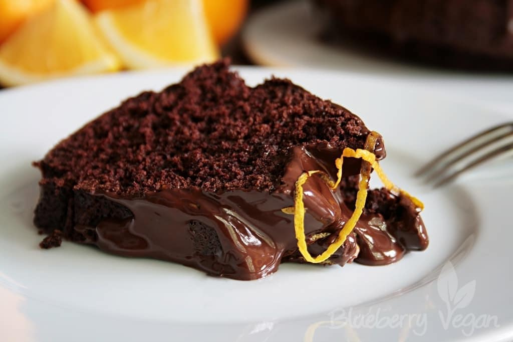 Leckerer Schoko Orangen Kuchen Blueberry Vegan