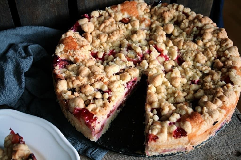 Saftiger Obst Streusel Kuchen Blueberry Vegan