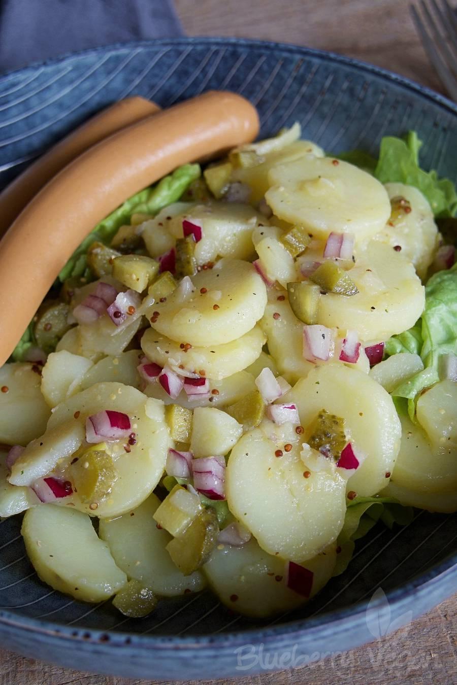 Einfacher Kartoffelsalat Mit Brühe Blueberry Vegan