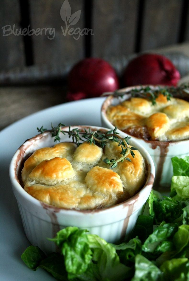 Mushroom Pot Pies with Puff Pastry