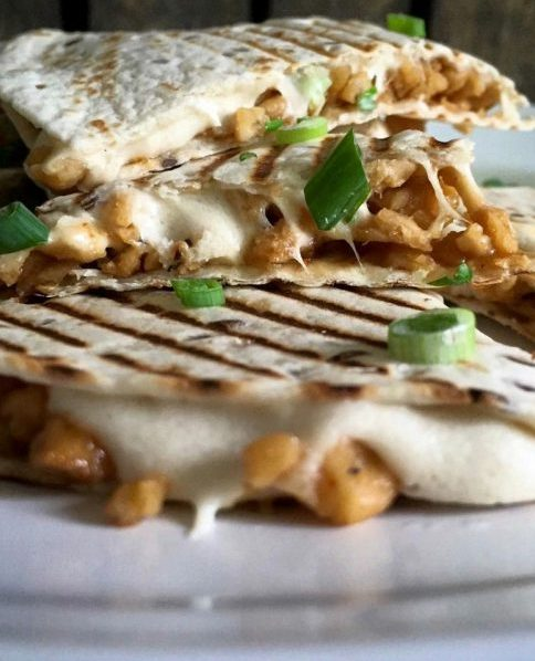 Quesadillas with Soya Shreds and Cashew Cheese