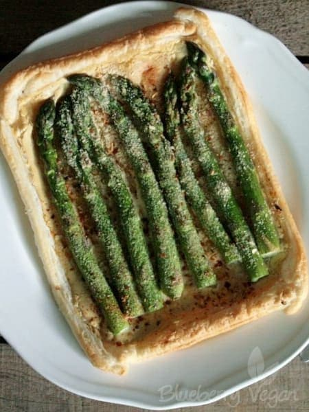 Asparagus Tart with Yoghurt Mustard Mousse