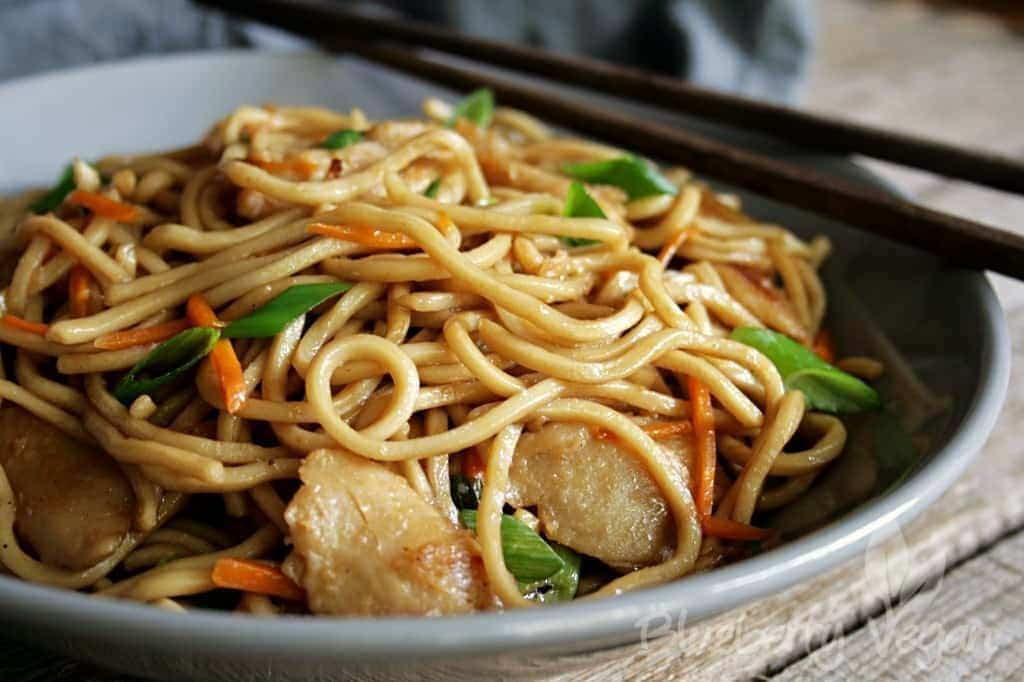 Chinese Fried Noodles As From Your Favorite Take Out Blueberry Vegan