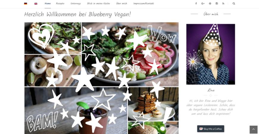 Blueberry Vegan hat Geburtstag – Die Top Ten des letzten Jahres