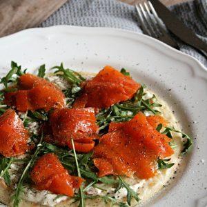 Leckere Karottenlachs-Pfannkuchen
