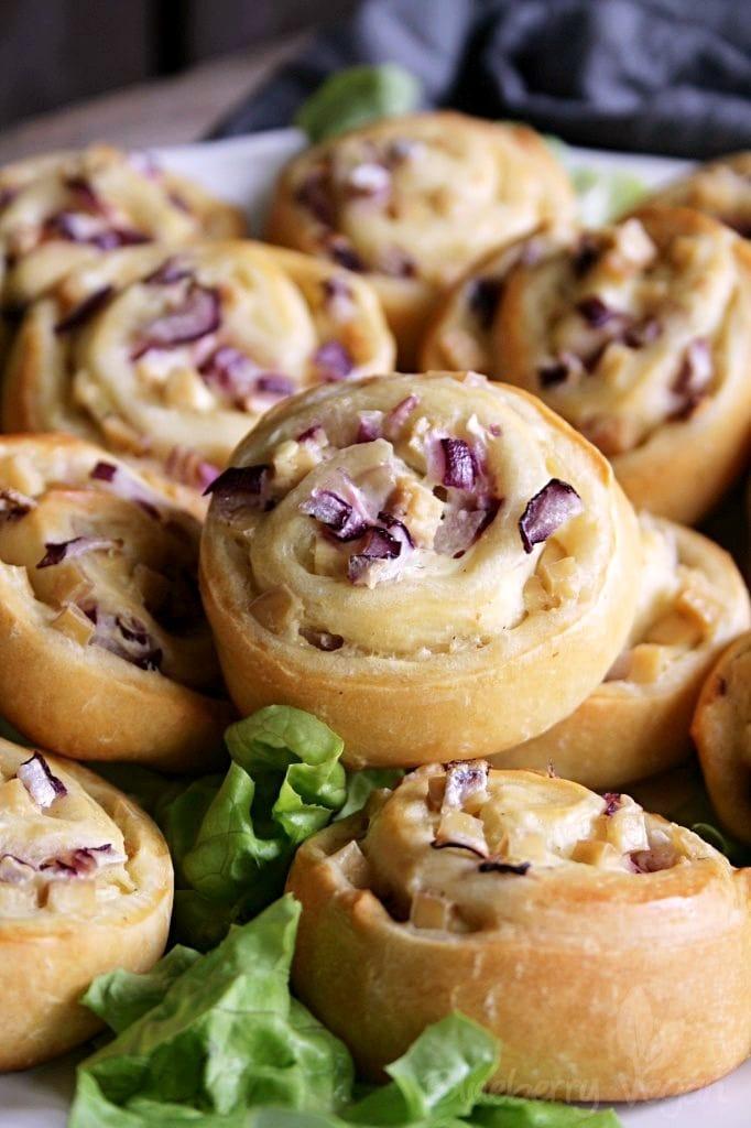 Tasty Tart Flambée Pinwheels