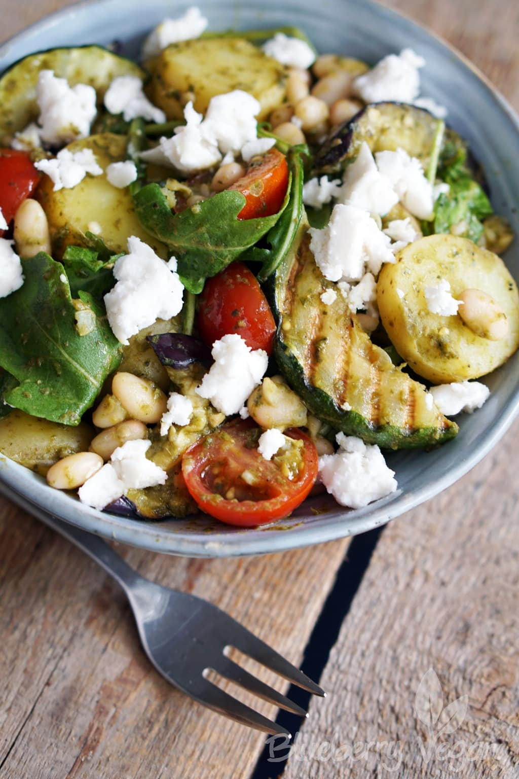 Mediterranean Potato Salad with Grilled Vegetables