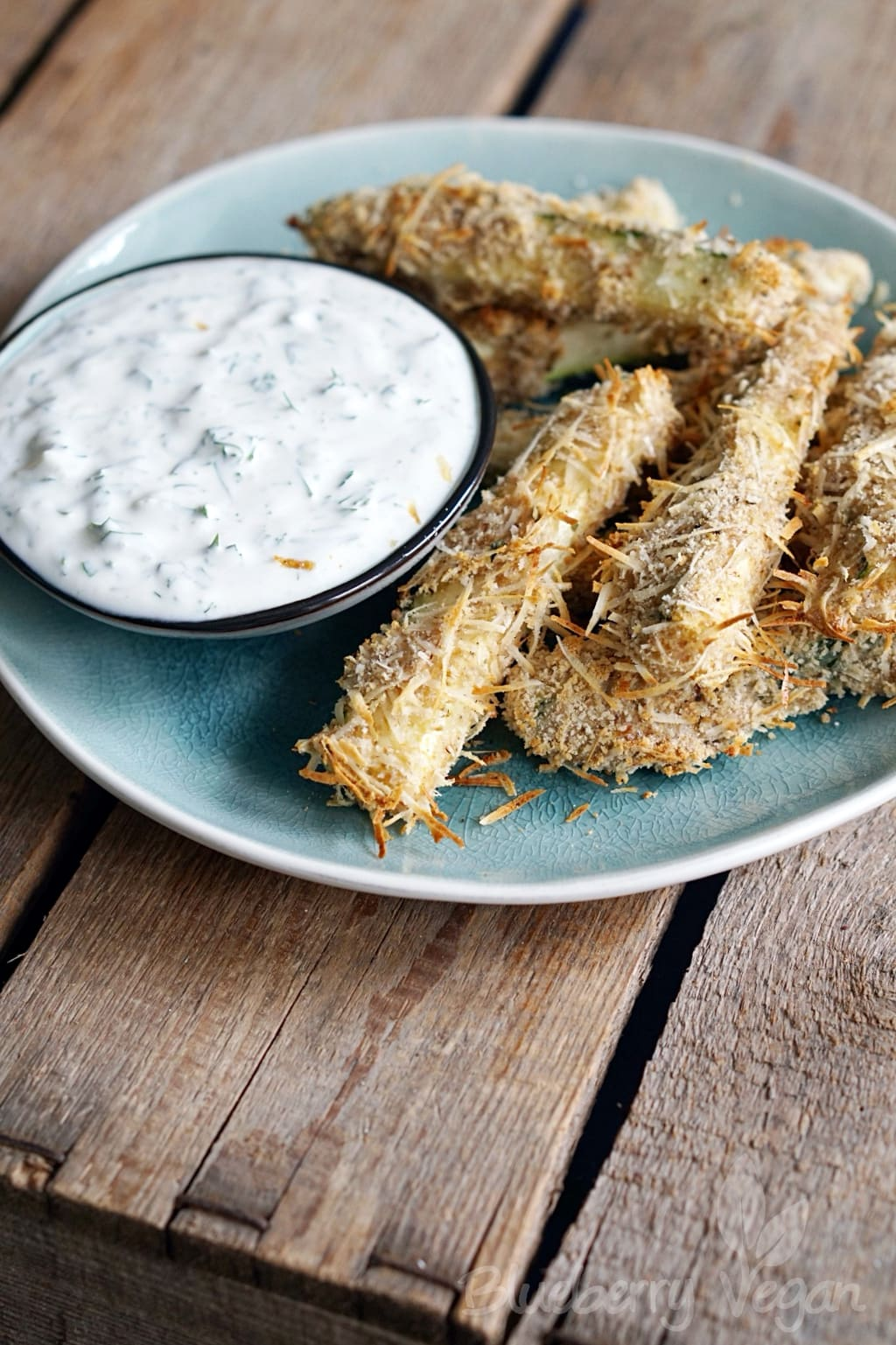 Crispy Zucchini Fries with Herbal Dip